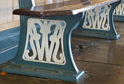 GWR Bench at Frome station, 2010 by Judith White